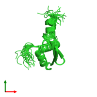 PDB 1uhz coloured by chain and viewed from the top.
