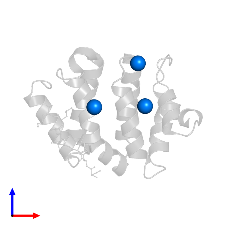 <div class='caption-body'>PDB entry 1ujk contains 3 copies of IODIDE ION in assembly 1. This small molecule is highlighted and viewed from the front.</div>
