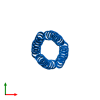 PDB 1uo0 contains 4 copies of General control transcription factor GCN4 in assembly 1. This protein is highlighted and viewed from the top.