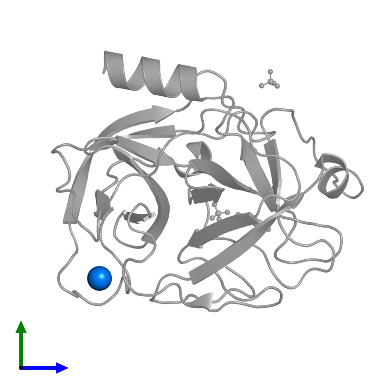 <div class='caption-body'>PDB entry 1v2s contains 1 copy of CALCIUM ION in assembly 1. This small molecule is highlighted and viewed from the front.</div>
