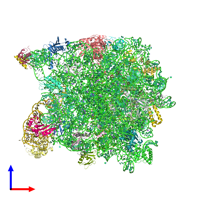 PDB 1vq8 coloured by chain and viewed from the front.