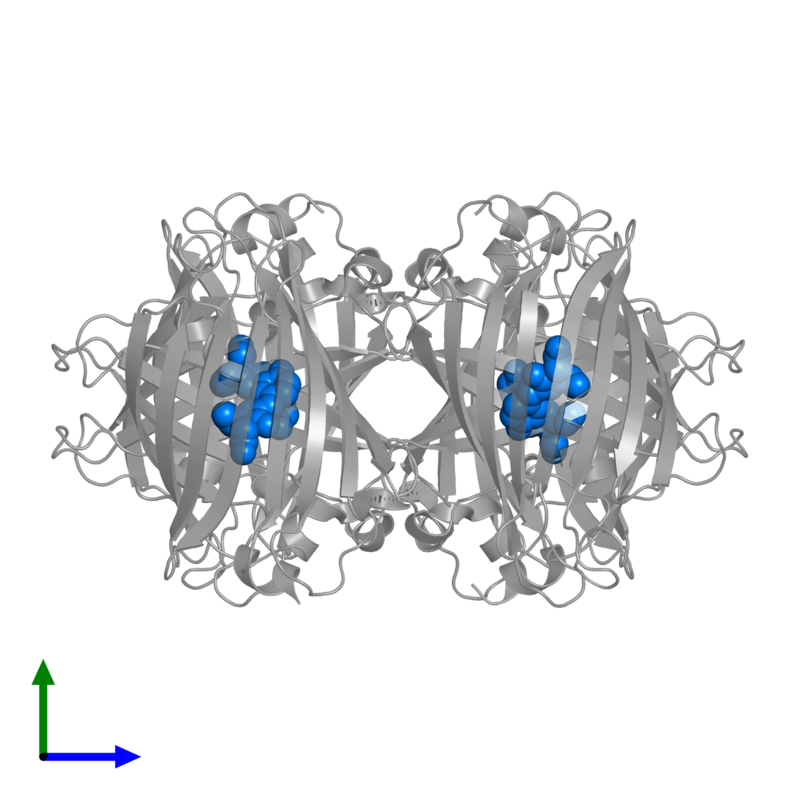 <div class='caption-body'>PDB entry 1w7s contains the modified residue GYS in assembly 1. This modified residue is highlighted and viewed from the side.</div>
