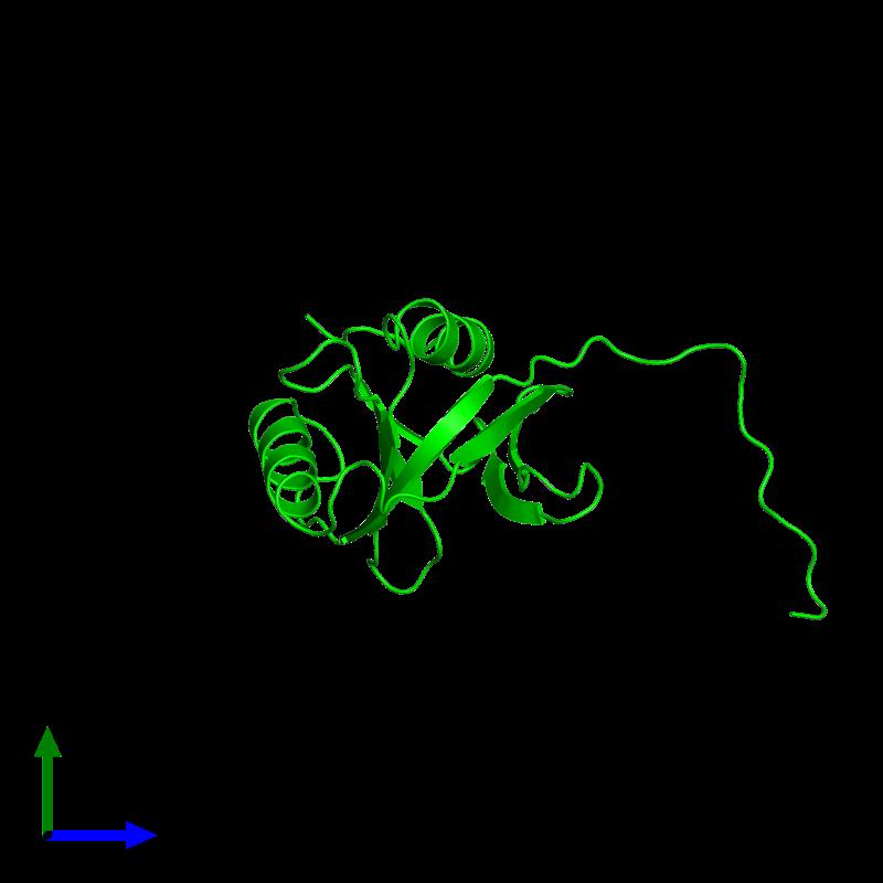 <div class='caption-body'><ul class ='image_legend_ul'>The deposited structure of PDB entry 1wgu coloured by chemically distinct molecules and viewed from the side. The entry contains: <li class ='image_legend_li'>1 copy of Amyloid-beta A4 precursor protein-binding family B member 2</li><li class ='image_legend_li'>There are no non-polymeric molecules</li></ul></li></ul></li></div>