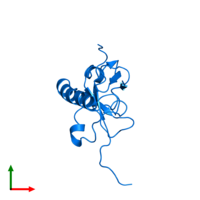 PDB 1wjr contains 1 copy of KIAA1617 protein in assembly 1. This protein is highlighted and viewed from the top.
