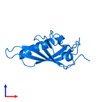 PDB 1x0o contains 1 copy of Aryl hydrocarbon receptor nuclear translocator in assembly 1. This protein is highlighted and viewed from the side.