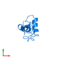 PDB 1xc5 contains 1 copy of Nuclear receptor corepressor 2 in assembly 1. This protein is highlighted and viewed from the top.