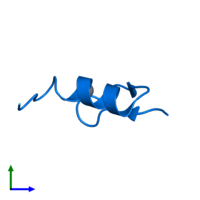 PDB 1xf7 contains 1 copy of Wilms' Tumor Protein in assembly 1. This protein is highlighted and viewed from the side.