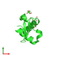 PDB 1y0n coloured by chain and viewed from the top.