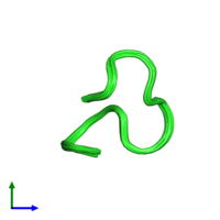 PDB 1y58 coloured by chain and viewed from the front.