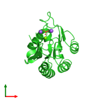 PDB 1ye8 coloured by chain and viewed from the top.