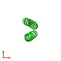 PDB 1yzm coloured by chain and viewed from the top.