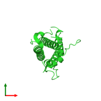 PDB 1z7c coloured by chain and viewed from the top.