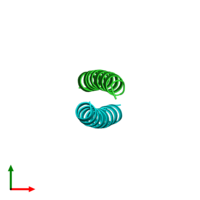 PDB 1zik coloured by chain and viewed from the top.