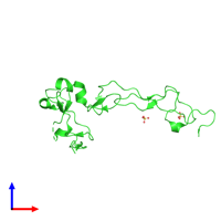 PDB 2ao7 coloured by chain and viewed from the front.