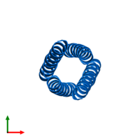 PDB 2cce contains 4 copies of General control transcription factor GCN4 in assembly 1. This protein is highlighted and viewed from the top.