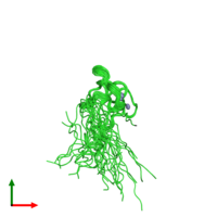 PDB 2co8 coloured by chain and viewed from the top.