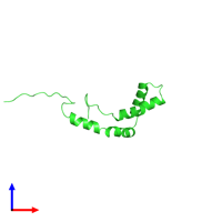 PDB 2cs1 coloured by chain and viewed from the front.