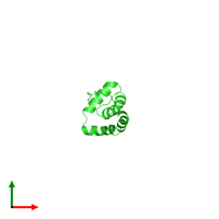 PDB 2cs1 coloured by chain and viewed from the top.
