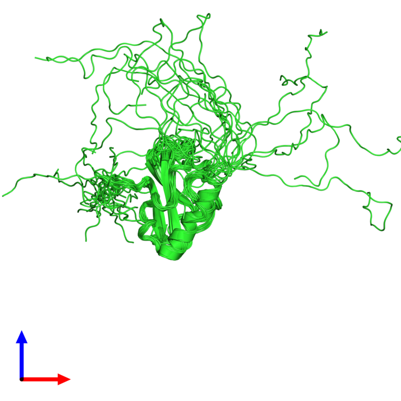 <div class='caption-body'><ul class ='image_legend_ul'>The deposited structure of PDB entry 2cs2 coloured by chain and viewed from the side. The entry contains: <li class ='image_legend_li'>1 copy of Poly [ADP-ribose] polymerase-1</li><li class ='image_legend_li'>There is 1 non-polymeric molecule<ul class ='image_legend_ul'><li class ='image_legend_li'>1 copy of ZINC ION</li></ul></li></div>