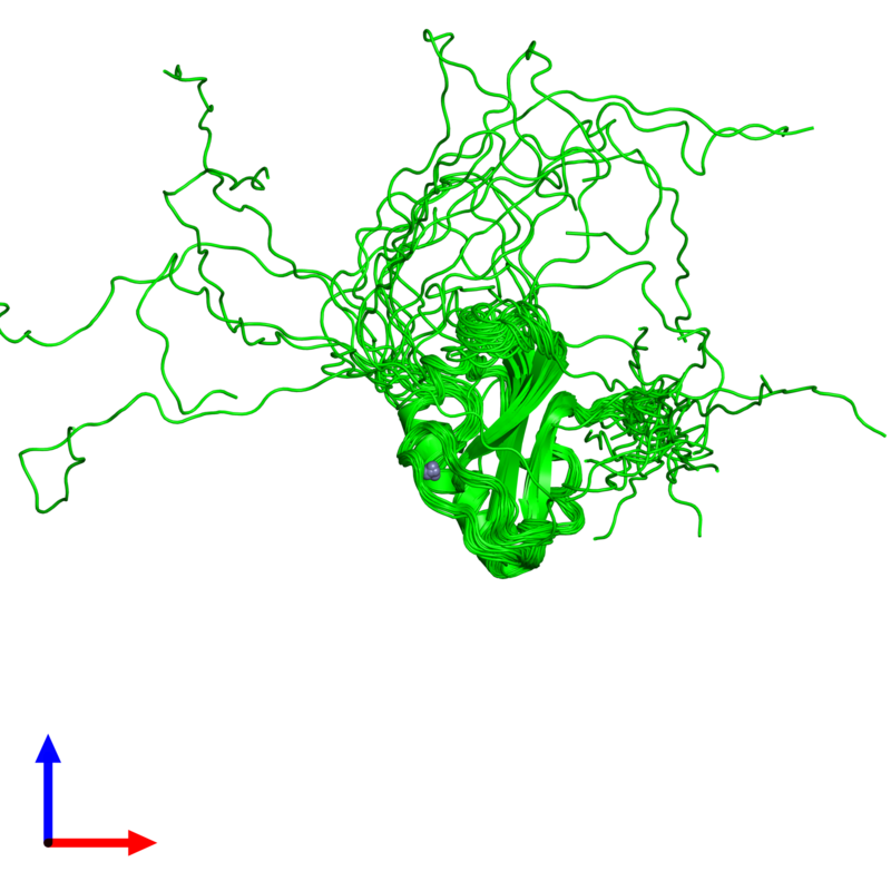 <div class='caption-body'><ul class ='image_legend_ul'>The deposited structure of PDB entry 2cs2 coloured by chemically distinct molecules and viewed from the side. The entry contains: <li class ='image_legend_li'>1 copy of Poly [ADP-ribose] polymerase-1</li><li class ='image_legend_li'>There is 1 non-polymeric molecule<ul class ='image_legend_ul'><li class ='image_legend_li'>1 copy of ZINC ION</li></ul></li></div>