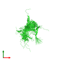 PDB 2csh coloured by chain and viewed from the top.