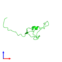 0-meric assembly 1 of PDB entry 2ctu coloured by chemically distinct molecules and viewed from the side.