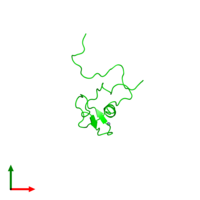 0-meric assembly 1 of PDB entry 2ctu coloured by chemically distinct molecules and viewed from the top.