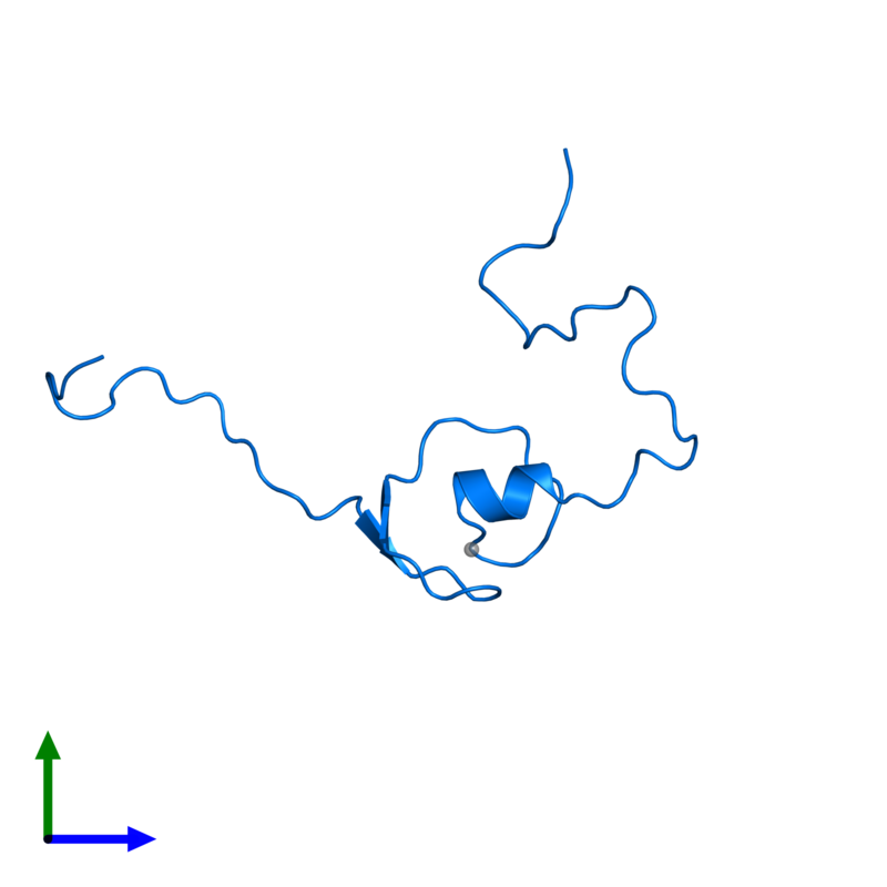 <div class='caption-body'>PDB entry 2ctu contains 1 copy of Zinc finger protein 483 in assembly 1. This protein is highlighted and viewed from the front.</div>