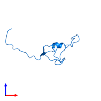 PDB 2ctu contains 1 copy of Zinc finger protein 483 in assembly 1. This protein is highlighted and viewed from the side.
