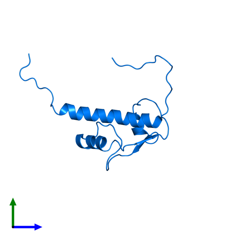 <div class='caption-body'>PDB entry 2d9b contains 1 copy of General transcription factor II-I in assembly 1. This protein is highlighted and viewed from the front.</div>