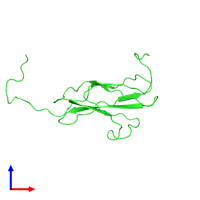 PDB 2dlh coloured by chain and viewed from the front.