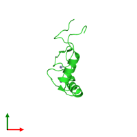 PDB 2dlk coloured by chain and viewed from the top.