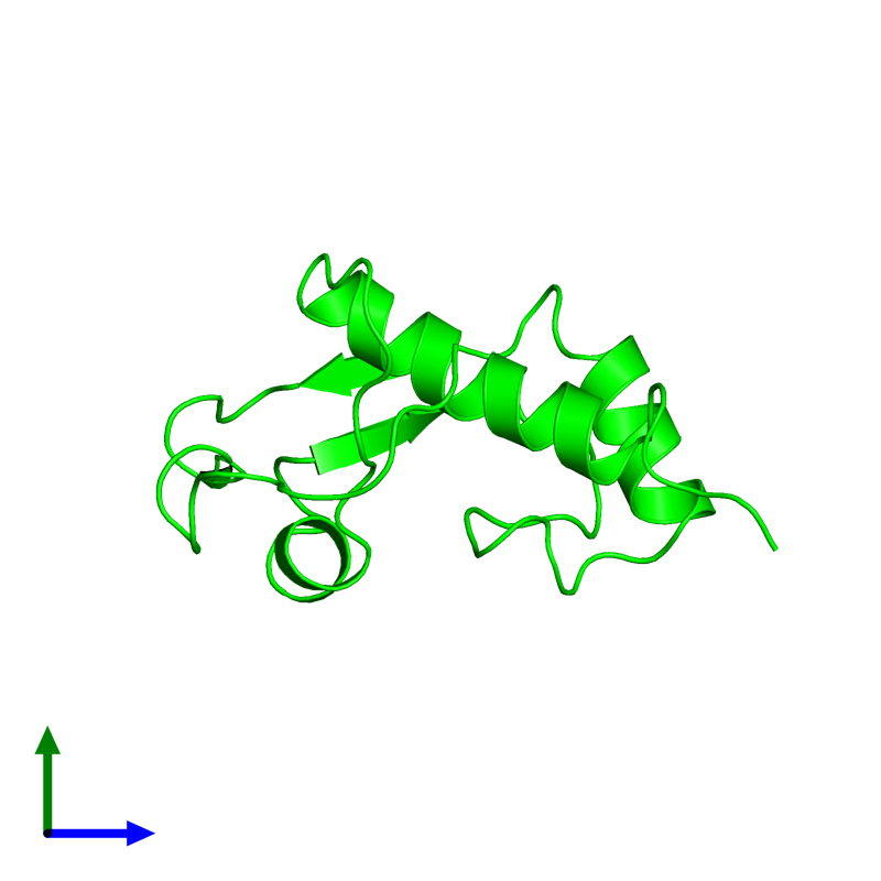 <div class='caption-body'><ul class ='image_legend_ul'>The deposited structure of PDB entry 2dn4 coloured by chemically distinct molecules and viewed from the side. The entry contains: <li class ='image_legend_li'>1 copy of General transcription factor II-I</li><li class ='image_legend_li'>There are no non-polymeric molecules</li></ul></li></ul></li></div>