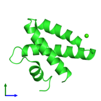PDB 2dob coloured by chain and viewed from the front.