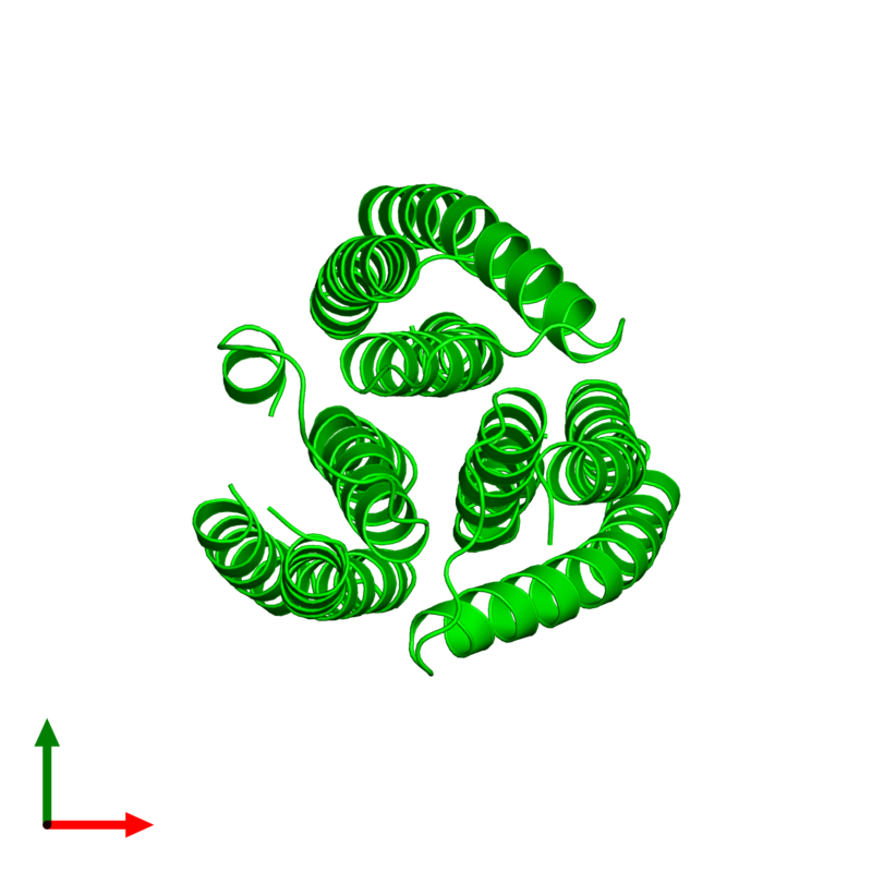 <div class='caption-body'><ul class ='image_legend_ul'>The deposited structure of PDB entry 2e2a coloured by chemically distinct molecules and viewed from the top. The entry contains: <li class ='image_legend_li'>3 copies of PTS system lactose-specific EIIA component</li><li class ='image_legend_li'>There are no non-polymeric molecules</li></ul></li></ul></li></div>