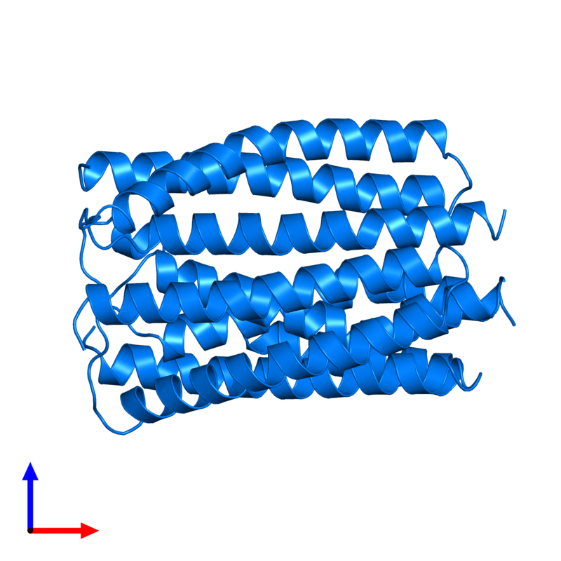 <div class='caption-body'>PDB entry 2e2a contains 3 copies of PTS system lactose-specific EIIA component in assembly 1. This protein is highlighted and viewed from the front.</div>
