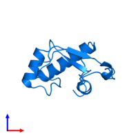 PDB 2ed2 contains 1 copy of General transcription factor II-I in assembly 1. This protein is highlighted and viewed from the side.