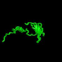1 copy of SCOP domain 57818 (Cytochrome c oxidase Subunit F) in Cytochrome c oxidase subunit 5B, mitochondrial in PDB 2eim.