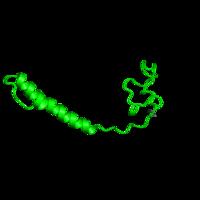 1 copy of CATH domain 4.10.95.10 (Cytochrome C Oxidase; Chain G) in Cytochrome c oxidase subunit 6A2, mitochondrial in PDB 2eim.