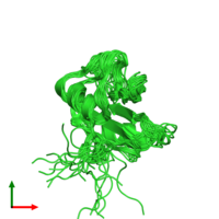 PDB 2ekx coloured by chain and viewed from the top.
