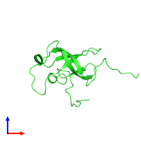 PDB 2eqs coloured by chain and viewed from the front.