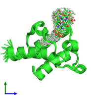 PDB 2fvf coloured by chain and viewed from the front.