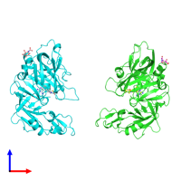 PDB 2g1n coloured by chain and viewed from the front.