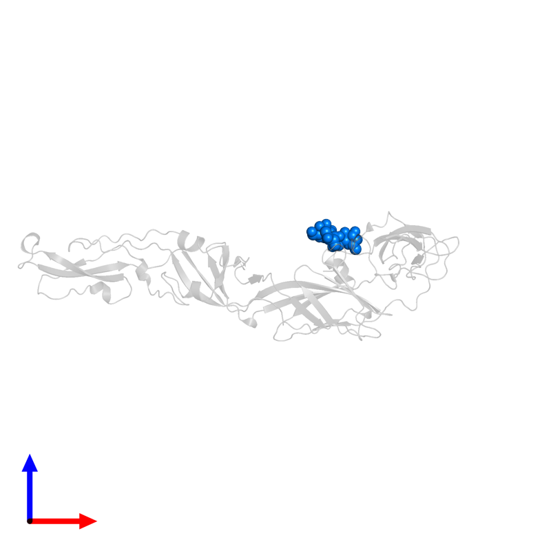 <div class='caption-body'>PDB entry 2hg0 contains 1 copy of 2-acetamido-2-deoxy-alpha-D-glucopyranose-(1-4)-[beta-L-fucopyranose-(1-6)]2-acetamido-2-deoxy-beta-D-glucopyranose in assembly 1. This small molecule is highlighted and viewed from the front.</div>