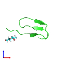 PDB 2hgo coloured by chain and viewed from the front.