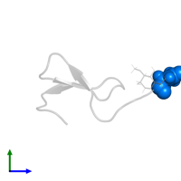 PDB entry 2hgo contains the modified residue PCA in assembly 1. This modified residue is highlighted and viewed from the side.