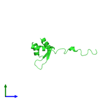 PDB 2htj coloured by chain and viewed from the front.
