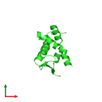 PDB 2if5 coloured by chain and viewed from the top.