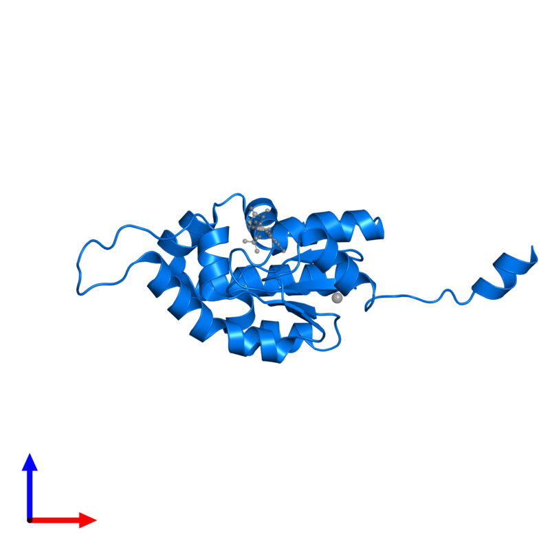 <div class='caption-body'>PDB entry 2iyv contains 1 copy of SHIKIMATE KINASE in assembly 1. This protein is highlighted and viewed from the side.</div>