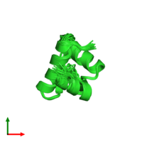 PDB 2jtv coloured by chain and viewed from the top.